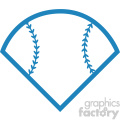 baseball field svg cut file monogram vector