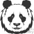 panda head vector art