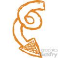 spiral arrow vector art