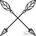 arrows crossed vector design 02