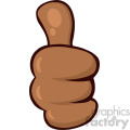 10687 Royalty Free RF Clipart African American Cartoon Hand Giving Thumbs Up Gesture Vector Illustration
