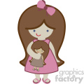 cute little girl svg cut file dxf vector  gif, png, jpg, svg, pdf