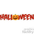 Halloween Greeting Banner Of A Evil Pumpkin As The O Vector Illustration Flat Design Style Isolated On White Background