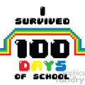 I survived 100 days of school 8 bit art
