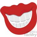 lips with big teeth vector vector clip art image