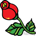 red rose vector clipart