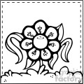 black white spring flower vector image
