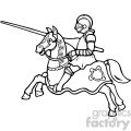 black and white knight on a horse art