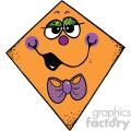 orange kite vector image