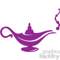 genie in a lamp vector icon