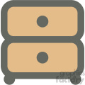 bedside table furniture icon