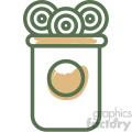 candy jar food vector flat icon design