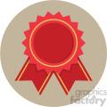 award ribbon circle background vector flat icon