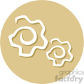 gears circle background vector flat icon