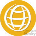 global circle background vector flat icon