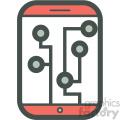 analytics smart device vector icon