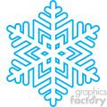 winter snowflake vector clip art