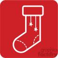 white christmas stocking vector icon
