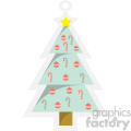 christmas tree tag clipart