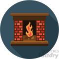 fireplace on blue background