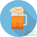beer glass on blue background