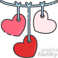 heart baby mobile