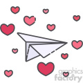 love letter paper plane