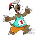 cartoon sloth runner