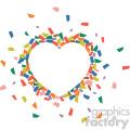 heart confetti no background
