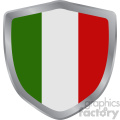 italy flag vector shield design
