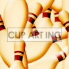 tiled bowling pins background