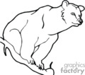 black and white outline of a polar bear