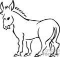 Donkey Clip Art Image - Royalty-Free Vector Clipart Images ...