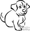 puppy puppies dog dogs   anmls057b_bw clip art animals  gif