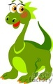 green cartoon dinosaur with a long neck