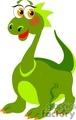 green cartoon dinosaur with a long neck