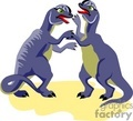 dino dinosaur dinosaurs dinos funny cartoon fighting   dino-013yy clip art animals dinosaur