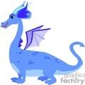 blue dragon with horns