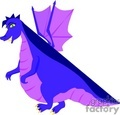 purple and blue dragon