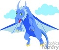 blue blue dragon flying
