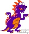 purple and orange cartoon dragon
