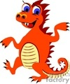 spiky orange dancing dragon