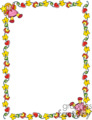 Little Girls Frame vector clip art image
