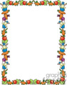 Border with rabbits and carrots vector clip art image