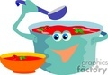 food fast junk soup lunch dinner cartoon   food010yy clip art food-drink
