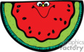 cartoon watermelon with a happy face
