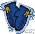 blue cartoon mittens