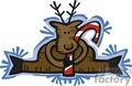 Reindeer Sitting with a Candy Cane