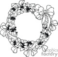 Black and White Holly Berry Wreath with a Bow