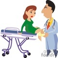 A Doctor Checking a Woman That has Been Hurt